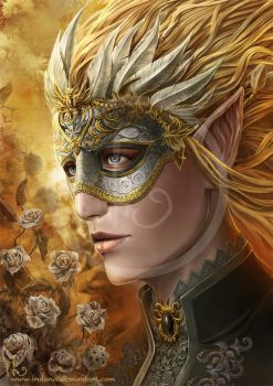 Curran in the mask by Irulana