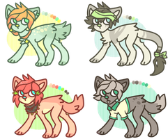 cheap adoptables - open by space-plants
