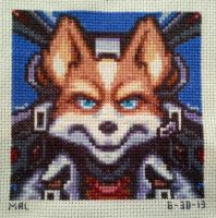 Star Fox Cross-stitch by GamingBitCrossStitch