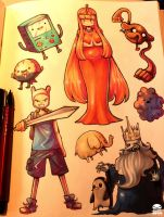 Adventure Time doodles by KenronToqueen