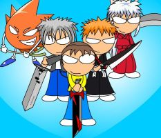 Quintet of Swordsmen by DonZatch