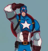 Captain America Sketch inspired by Eric Guzman by Marvelzukas
