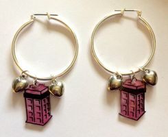 TARDIS love earrings by Lovelyruthie