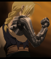 Edward Elric shows his right arm by joaocouto