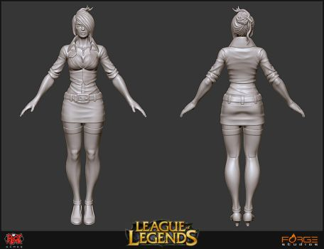 LoL Headmistress Fiora Sculpt by HecM
