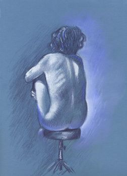 Nude on a stool by Harnois75
