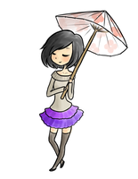 Girl with umbrella by SorbetBerry