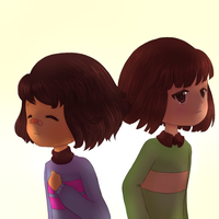 Frisk and Chara by re-ve-rie