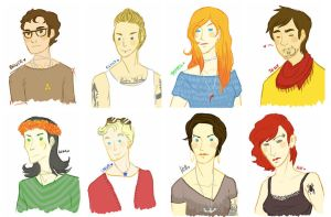 hipster!avengers by Fensterseifer