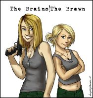 The Brains and The Brawn by daughterofthestars