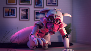 Defeated Funtime Foxy by Qutiix