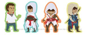 Assassin's creed chibiness by eamilia