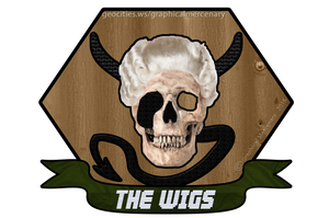 Powdered Wig Skull - Military Emblem Style by AdahihiInada
