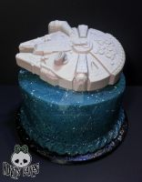 Millennium Falcon Space Cake. by Corpse-Queen