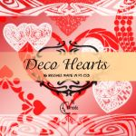 Deco Hearts Brushes by Coby17