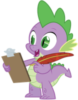 Spike has a clipboard... by AxemGR