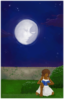 -reading of moons with faces- by divi