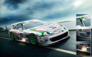 JGTC Castrol TOM'S Supra by EvolveKonceptz