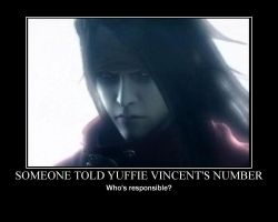 Vincent Valentine's Phone Number by MsDraculina