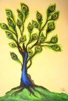 Peacock Tree by decomposerdoll