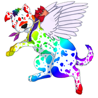 Rainbow Spotted Cupid by MeanCheen