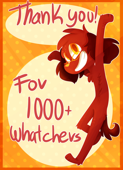1k Watchers by NoasDraws