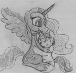 Commission: Redbook And Luna by drawponies