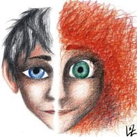 Jack and Merida by Tremotino