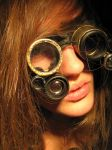 steampunk goggles by bolt-for-home