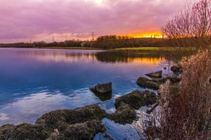 Rother Valley Sunset by JamesTeshPhotography