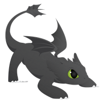 Baby Toothless by ShilaDaLioness