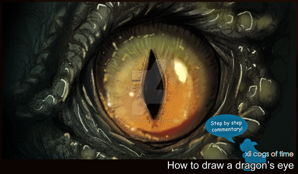How to Draw a Dragon's Eye by SpiraxDracowolf