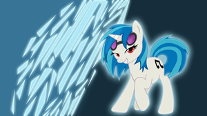 Vinyl Scratch - color changing wallpaper! by SappCup