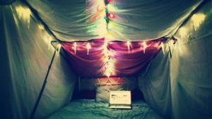 my blanket fort by Bawzon