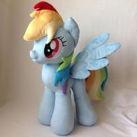 Rainbow Dash Plush Handmade Custom My Little Pony by RufousCat