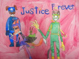 Justice Forever: DK-Gorillaz style by BARproductions