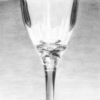 Wine Glass Drawing by TheMinx