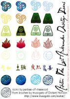 AtLA - Elemental Desktop Icons by Penbee-of-Treewood
