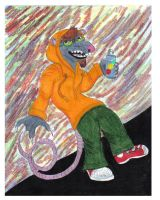 Down Town Rat-Wolf-Lion -2008 by CrystalMarineGallery