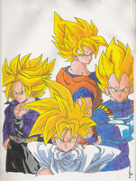 Dragon Ball Z Gang by kisit