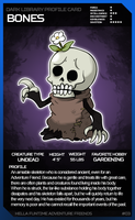 Dark Library Profile Card: Bones by PersonWhoDrew