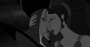 Jafar and Meg Kiss. by g-r-e-c-i-a-n