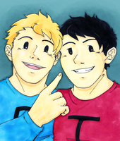 Terrance and Phillip by Eyeless1703