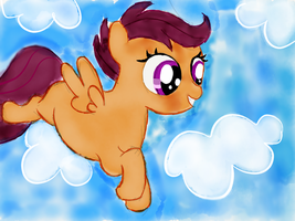 365 Days of Drawing Day 10: Cute Scoot! by HurricaneChiela