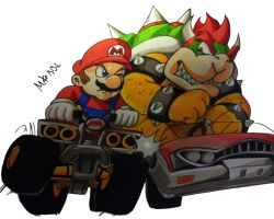 Mario Vs Bowser by MikeES