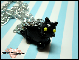 Cat Necklace by GrandmaThunderpants
