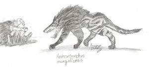Andrewsarchus mongoliensis by Fireborn46
