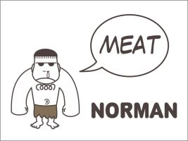 Norman the caveman by Guncyder00