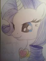 Rarity Headshot by Vaileaa