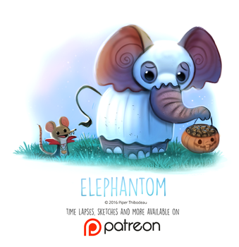 Day 1434. Elephantom by Cryptid-Creations